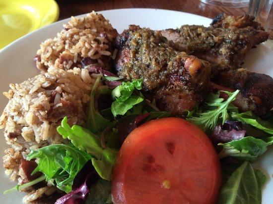 Coconuts Caribbean Restaurant & Bar : Jerk chicken dark meat