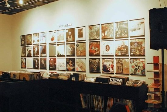 Touch Vinyl: Our beloved New Release wall...