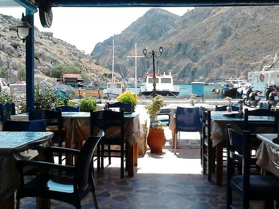 Aigaio Pelagos Restaurant: The view from the restaurant!