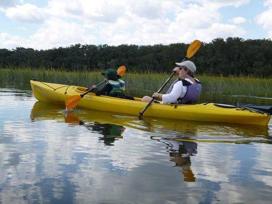 Kayak Amelia: Smooth waters