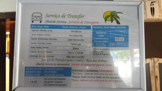 Pousada dos Tangaras: servicio de vans