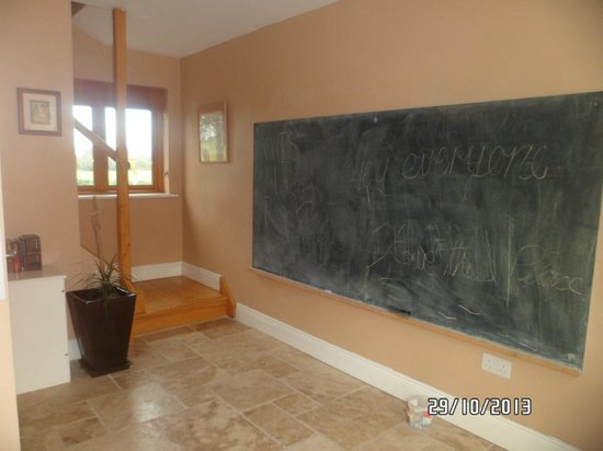 "Decoy Country Cottages : Chalk board in ""The Den"""