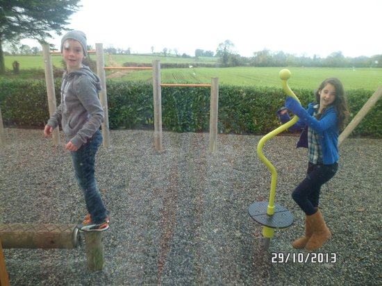 Decoy Country Cottages: our kids enjoying the play area