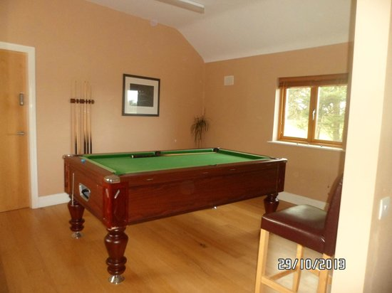 Decoy Country Cottages: Pool table in The Den