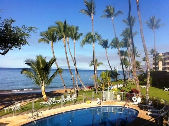 The Hale Pau Hana : View from Unit 15 patio