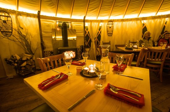 Crested Butte Nordic Center: Fine Yurt Dining at the Magic Meadows Yurt