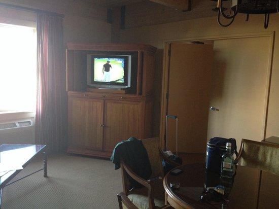 Harbor House: Living area TV