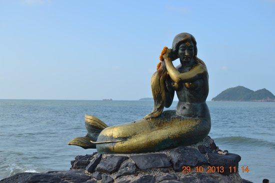 Mermaid Statue: Havfruen