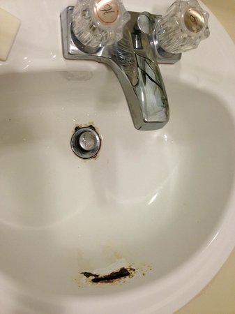 Super 8 Christiansburg: Rusty Sink