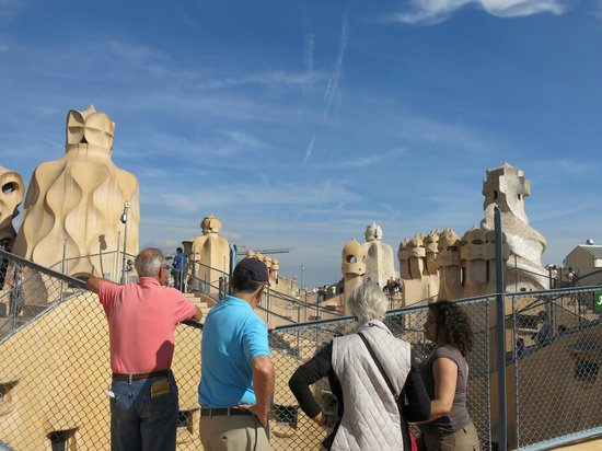 ForeverBarcelona: On the roof with Marta at the Casa Mila