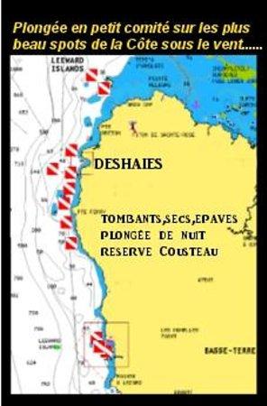 Calypso Plongée : les sites