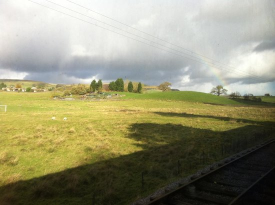 Embsay & Bolton Abbey Steam Railway: Beautiful landscapes and a rainbow too