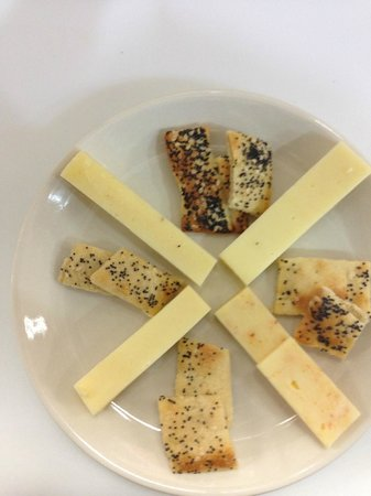 1110 West Main Ltd: Our Cheese board with house made crackers