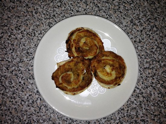 1110 West Main Ltd: Our newest appetizer caramelized onion pin wheels