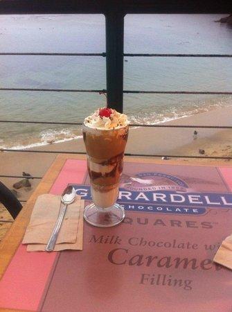 Ghirardelli Ice Cream & Chocolate Shop: Peanut Butter Hot Fudge Sundae, Ghiradelli Ice Cream Shop on Cannery Row