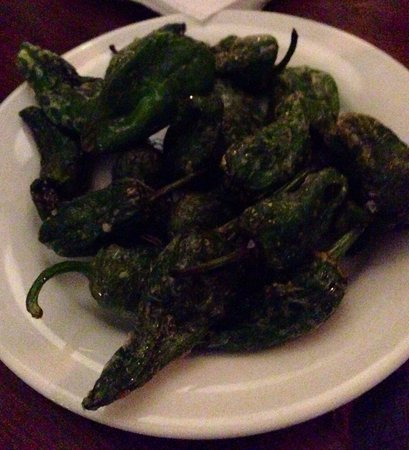 Porta: Fried Padron peppers with Maldon salt