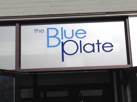 Blue Plate : Sign out front