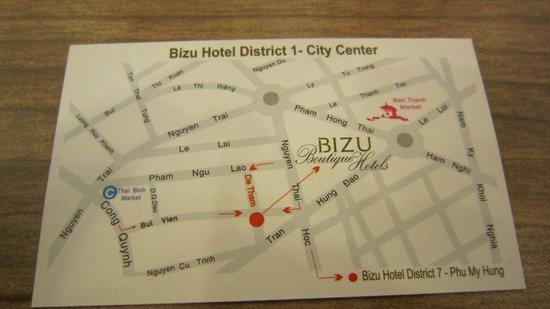 DDA Hotel District 1 (BIZU) : 所在位置