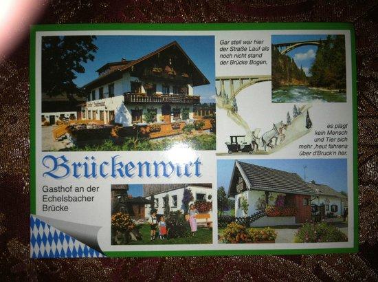 Gasthof Bruckenwirt: A postcard of Gasthof Brückenwirt