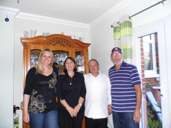 Coast Guest Accommodation : My girlfriend, Viv, Mario & myself.