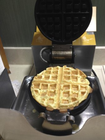 Hampton Inn & Suites Cincinnati/Uptown-University Area: Breakfast bar waffle iron