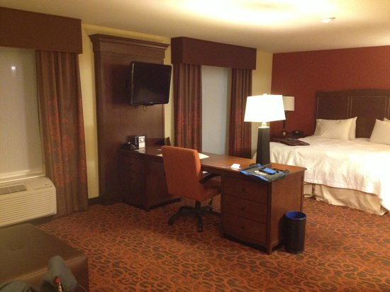 Hampton Inn & Suites Cincinnati/Uptown-University Area : King bed suite