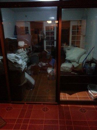 Jirawan Hotel : House keeping storage at display