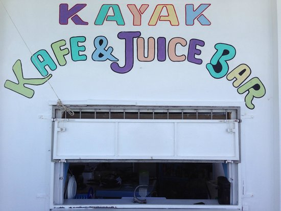 Kayak Kafe & Juice Bar: The Bar...!