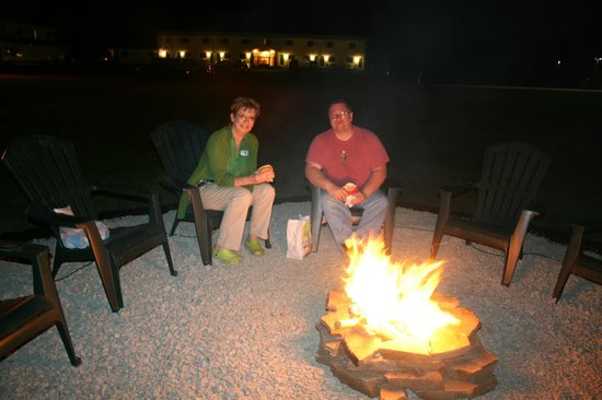 Campfire at Vacationland Inn in Brewer Maine