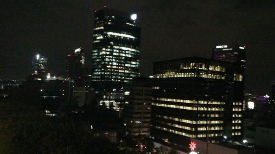 Eurostars Zona Rosa Suites: vista nocturna desde terraza