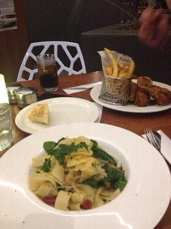 Capers on the Esplanade: Capers Paperdelle and Chicken & chips