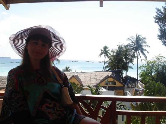 Boracay Beach Club: Веранда на крыше отеля