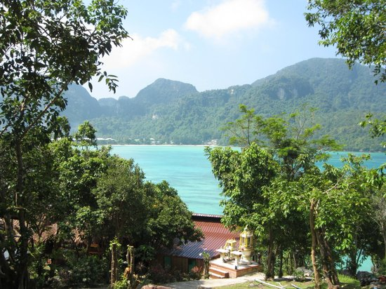 Phuphaya Seaview Resort: View from resort (not from bamboo house)
