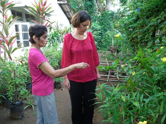 Halgolla Plantation Home : WIth Arlene in the kitchen garden