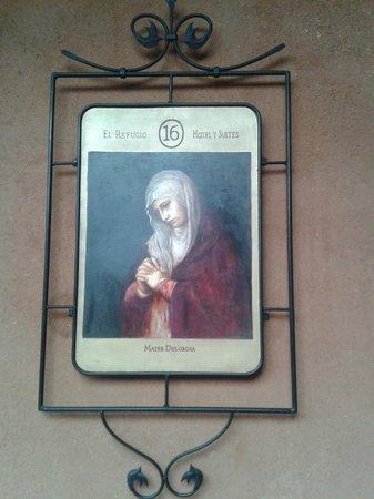 Hotel Casa del Refugio: cada habitación de lujo, superior  y suites  tiene un santo