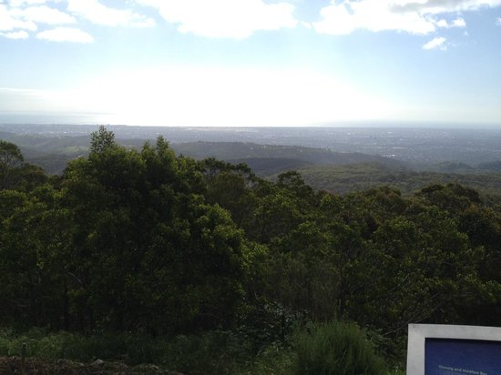Mount Lofty Summit: View from the top of Mount Lofty lookout point