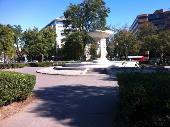 The Dupont Circle : The hotel is located across the street from Dupont Circle (hotel is in the background).