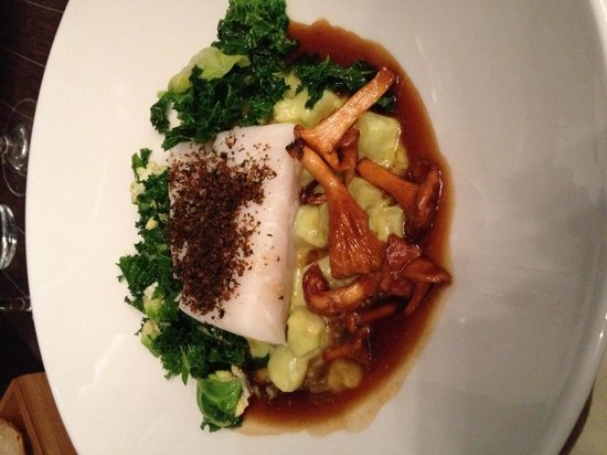 Langvik Congress Wellness Hotel: White fish with season mushrooms