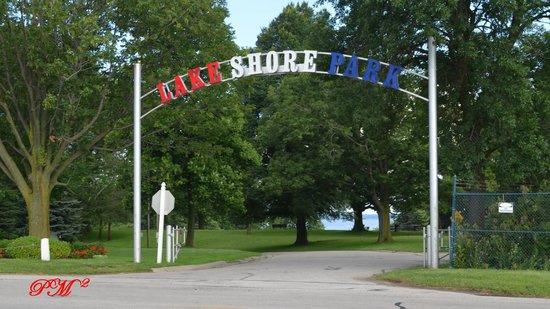 Lake Shore Park Entrance.