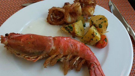 The Garden Restaurant: The Scampi....