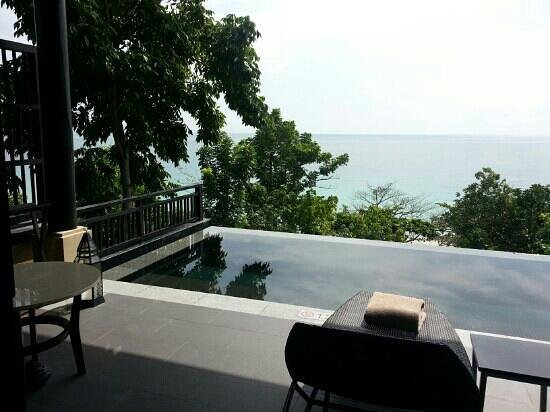 Vana Belle, A Luxury Collection Resort, Koh Samui: grand pool suite balcony