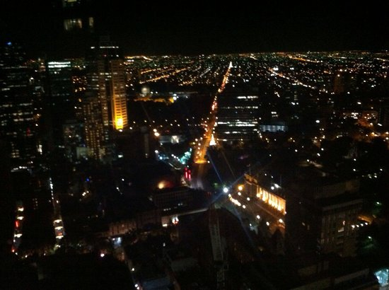 Sofitel Melbourne on Collins: Night view from our superior room