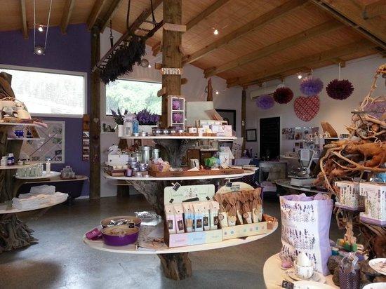 Lavendyl Lavender Farm: The shop inside