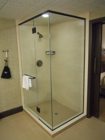 Omni Austin Hotel Downtown: Shower in Suite Bathroom (remarkably, no bath)