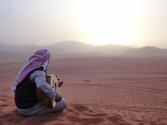 Wadi Rum Green Desert: Sunset watching (and singing)
