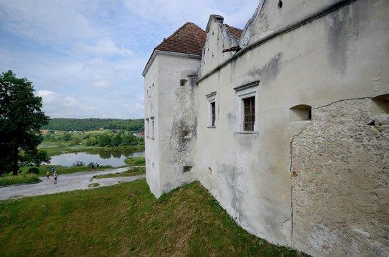 Svirzh Castle : Вид с мостика, ведущего ко входу в замок