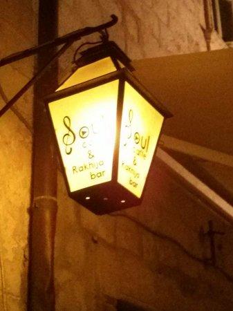 Soul Caffe lamp light.