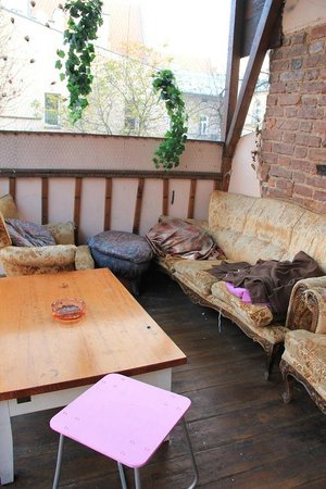 Pink Panther's Hostel: The biggest Patio