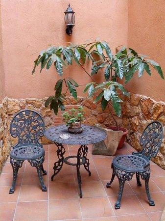 Hotel Baviera: Nuestro patio privado