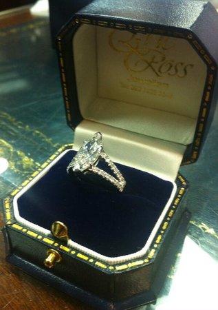 diamond engagement ring Picture of Hatton Garden London